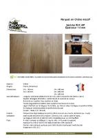 Parquet Chêne 14 mm – fiche technique
