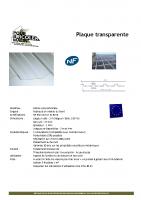 Plaque polycarbonate – fiche technique