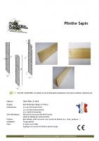 Plinthe Sapin – fiche technique