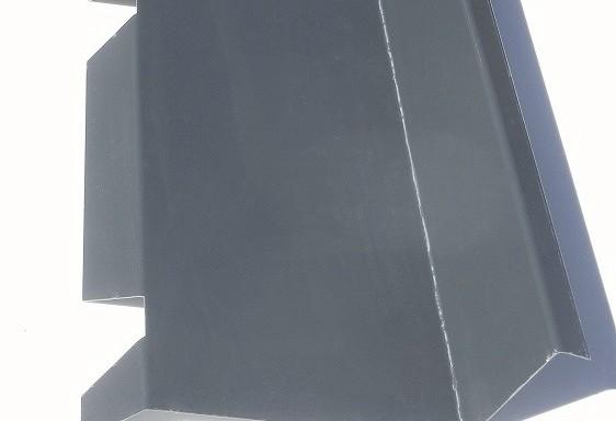 Faîtière contre mur crantée 7016 grise
