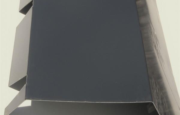 Faîtière double pente crantée 7016 grise