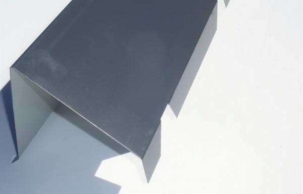 Faîtière sur mur crantée 7016 grise