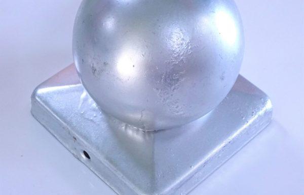 Chapeau de poteau 90×90 galvanisé boule