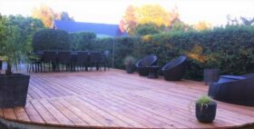 Terrasse en mélèze européen